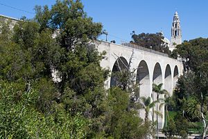 Cabrillo Bridge - A modern view of the Cabrillo Bridge