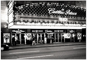 Cadillac Palace Theatre - Main entrance of venue, c. 2005