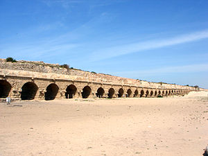 Caesarea Maritima - Remains of the ancient Roman aqueduct