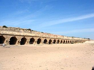 Caesarea Maritima - Remains of the ancient Roman aqueduct