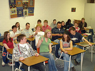 Education in the United States - A high-school senior (twelfth grade) classroom in Calhan, Colorado