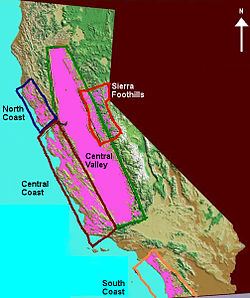 California Wine Wikipedia - Us wine regions map