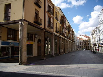 Calle Mayor - Main Street in Palencia, location of several key sequences of Calle Mayor