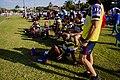 Caloundra bench at A grade game v Wynnum 2020–08–15.jpg
