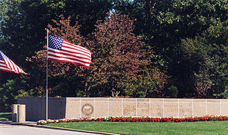 Calverton National Cemetery - Sign at the entrance of the cemetery
