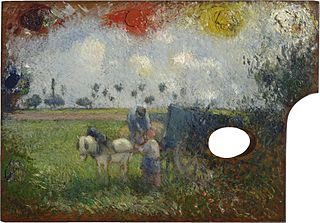 The Artist's Palette with a Cart and Peasants