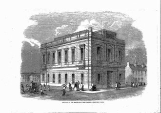 Robert Buchanan (Owenite) - The Manchester Hall of Science, Campfield, after its 1850 conversion to Manchester Free Library