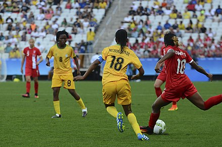 Zimbabwe women's national football team at the 2016 Olympic Games Canada wins Zimbabwe in Rio Olympics 07.jpg
