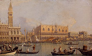 View of the Ducal Palace in Venice