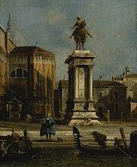 Canaletto - View of the Equestrian Statue of Bartolomeo Colleoni.jpg