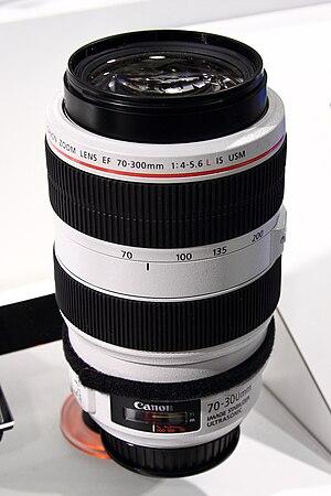Canon EF 70–300mm lens - Image: Canon EF 70 300mm F4 5.6 L IS USM