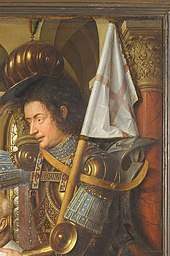 Detail showing St. George in armour