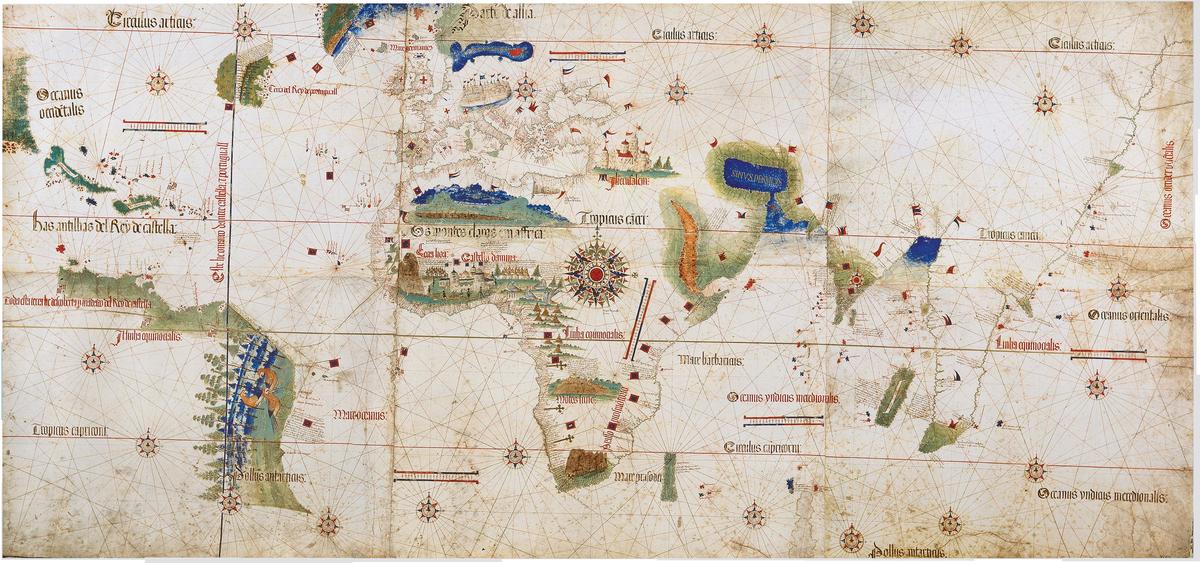 verdens eldste kart Cantino planisfæren – Wikipedia verdens eldste kart