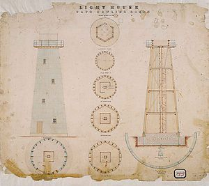 Cape Bowling Green Light - Plans of the first lighthouse