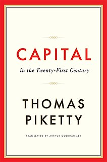 <i>Capital in the Twenty-First Century</i> 2013 book by French economist Thomas Piketty