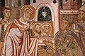 Cappella di san silvestro, affreschi del 1246, storie di costantino 04 silvetsro fa venerare a costantino i ss. pietro e paolo 3.jpg