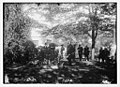 Capt. B.S. Osbon at funeral services at DeLong grave LCCN2014680479.jpg
