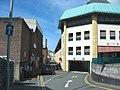 Car park entrance at the rear of Pool Street-Stryd y Llyn - geograph.org.uk - 508614.jpg