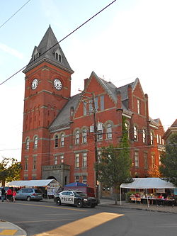 Carbondale PA B Hall & courthouse front.JPG