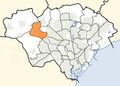 Cardiff Wales communities - Radyr and Morganstown locator.png