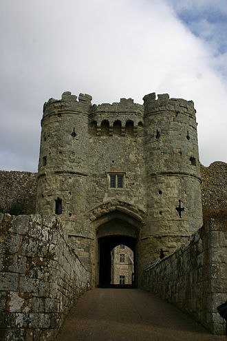 Manor of Dyrham - Entrance to Carisbrooke Castle, Isle of Wight, of which Sir William Russell was Constable