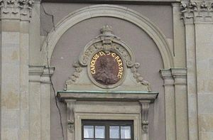 Charles IX of Sweden - Image of King Carl IX on a wall of Stockholm Palace.