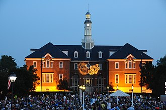 Carmel, Indiana - City Hall during CarmelFest
