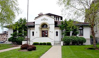 Public Library of Cincinnati and Hamilton County - The Avondale Branch, a Carnegie library, opened in 1913 on the corner of Reading Road (south of Dana Avenue) and Mann Place.  It is designed in Spanish Colonial style