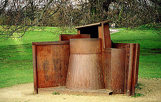 Anthony Caro - Dream City (1996), rusting steel, at the Yorkshire Sculpture Park