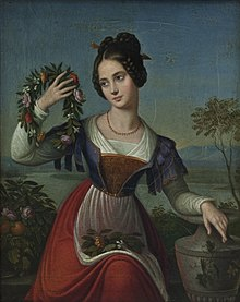 Caroline Bardua: Die Kranzwinderin, um 1838 (Anhaltische Gemäldegalerie Dessau) (Quelle: Wikimedia)