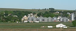 Carroll, Nebraska N end from E.JPG