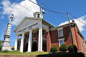 National Register of Historic Places listings in Carroll County, Virginia - Image: Carroll County Court Front Corner