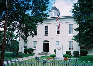National Register of Historic Places listings in Carroll County, Mississippi - Image: Carroll County MS Courthouse Carrollton