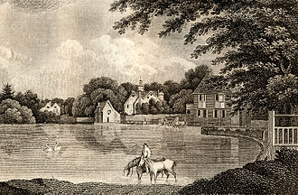Carshalton - Carshalton Pond, 1806, before division into two ponds