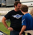 Carson Kvapil talking with dad Travis Kvapil.jpg