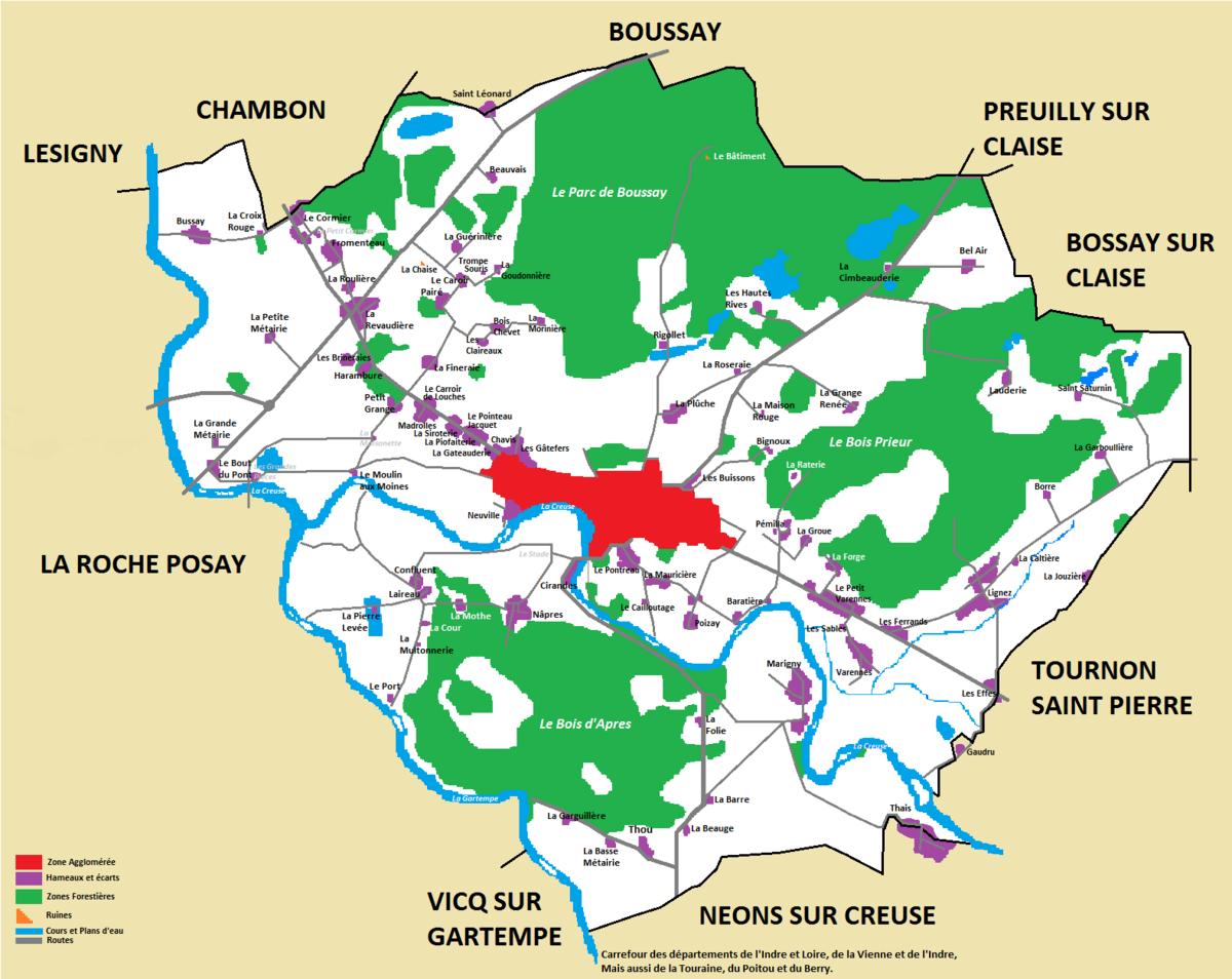 Hameaux et lieux dits d 39 yzeures sur creuse wikip dia for Piscine d argenton sur creuse