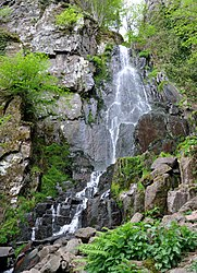 The Nideck waterfall in Oberhaslach