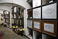 Catacomb columbarium interior - City of London Cemetery, Newham, London England 02.jpg