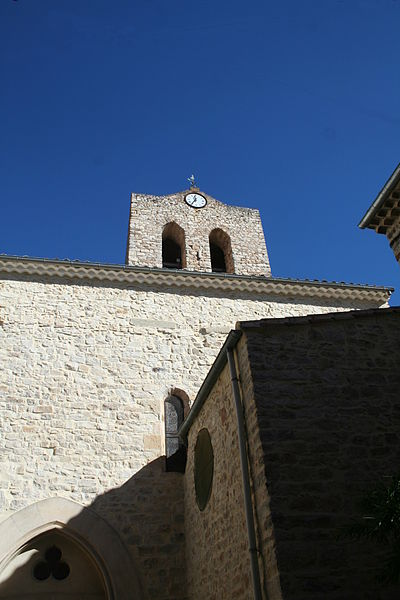 Causses-et-Veyran (Hérault) - église Notre-Dame de la Purification.