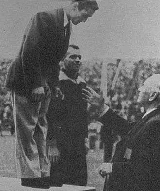 Celal Atik - Atik (left) at the 1948 Olympics
