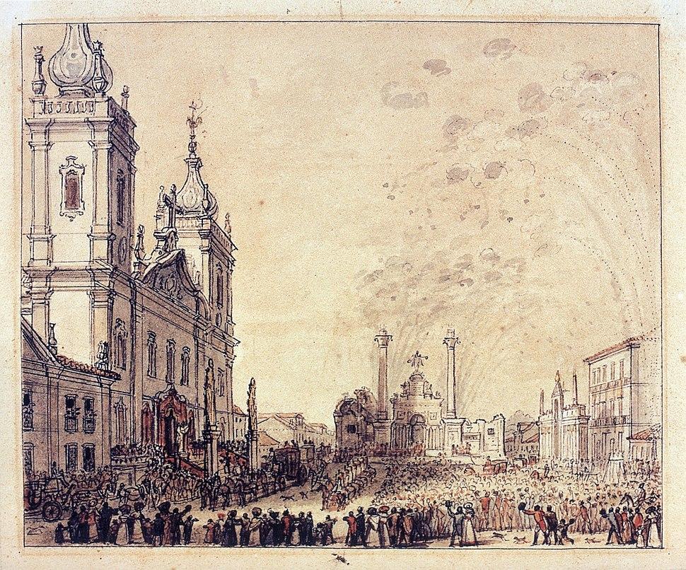 Celebration for the return of Emperor Pedro I 1826