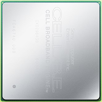 Cell (microprocessor) - Image: Cell BE 90nm lid