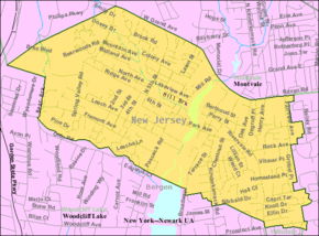 Census Bureau map of Park Ridge, New Jersey.png