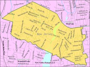 Park Ridge, New Jersey - Image: Census Bureau map of Park Ridge, New Jersey