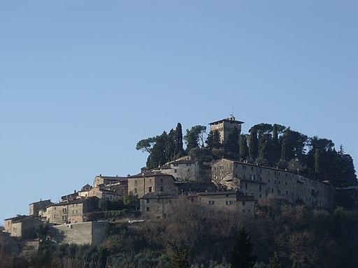 Panorama of Cetona Castle in Cetona, Valdichiana
