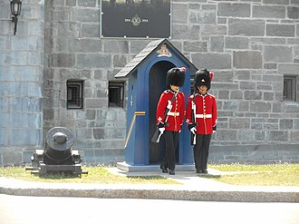 Public duties - Sentries during the changing of the guard at the Citadelle of Quebec.