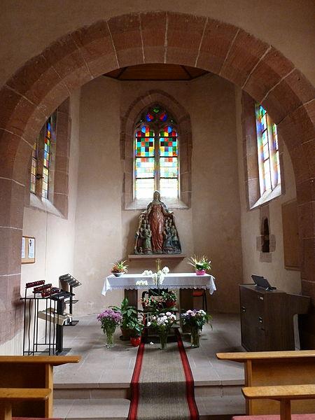 Chapelle Notre-Dame de Mouterhouse (Moselle, Lorraine, France).