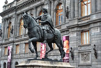 Charles IV of Spain - Manuel Tolsá's large equestrian statue of Charles IV of Spain, Mexico City.