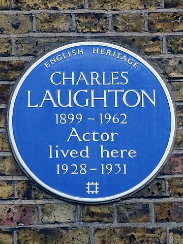 Charles Laughton 1899-1962 Actor lived here 1928-1931.jpg