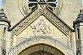 Chauny (02), église Saint-Martin, porche, bas-relief du pignon ouest - la Charité de Saint-Martin.jpg
